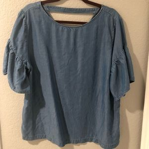 Chambray flowy top